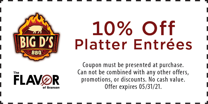 Coupon for Big D's BBQ