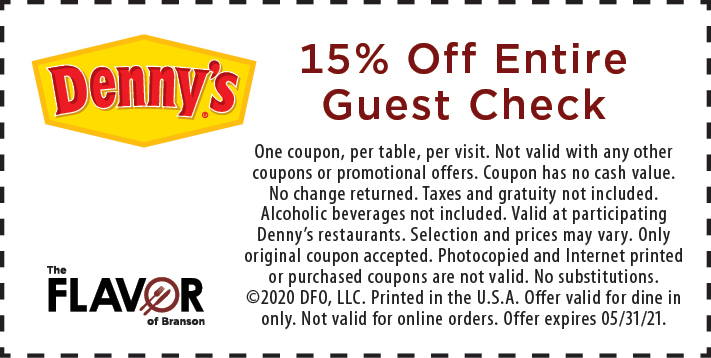 Coupon for Denny's