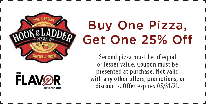 Coupon for Hook and Ladder Pizza