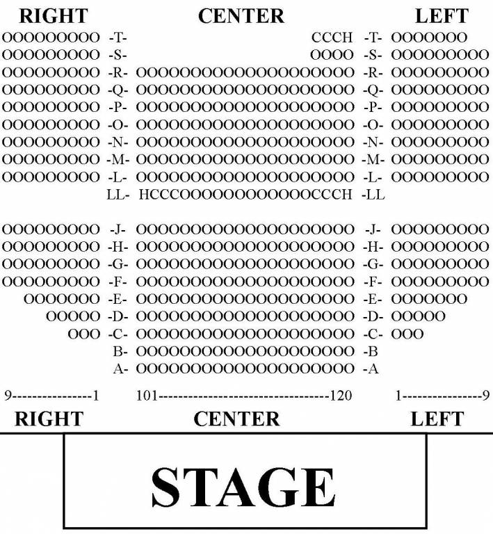 Beach Boys California Dreamin' Seat Map